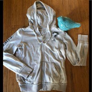 Guess grey sweatshirt hoodie size medium